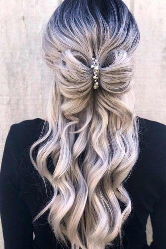 Amazing Long Half-Up Hairstyles With Bows #halfup
