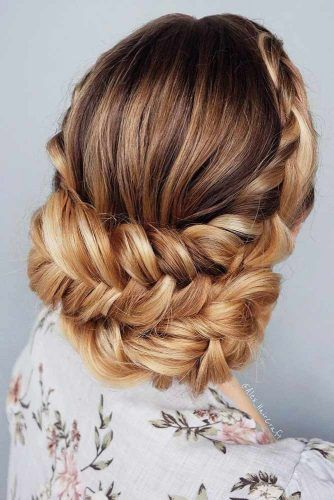 Long Updo Braided Hairstyles #updo #braids