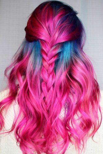 Hairstyles for Magenta Hair picture 3