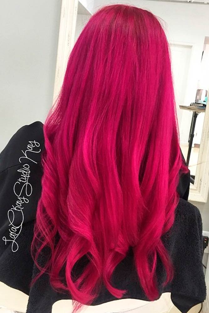 Magenta Color Ideas for Long Hair picture1