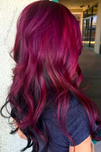Magenta Color Ideas for Long Hair picture2