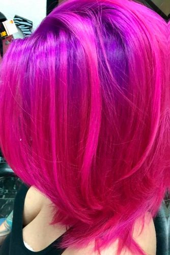 Bright Look with Magenta Hair Color picture 3