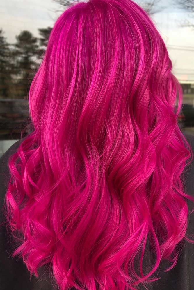 Pinkish Magenta Long #magentahair #redhair