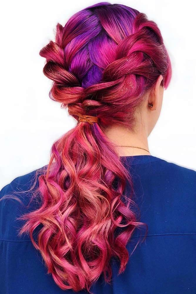 Purple Toned Magenta Pony #magentahair #redhair