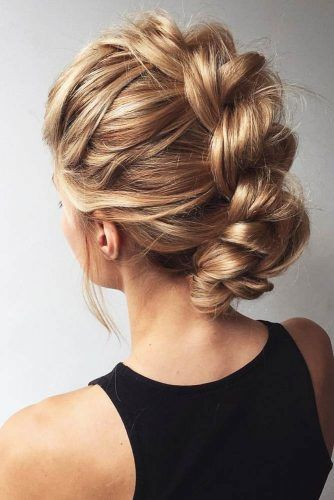 Twisted And Braided Fauxhawk Hairstyles For Medium Length #mediumlength #mohawk #braids