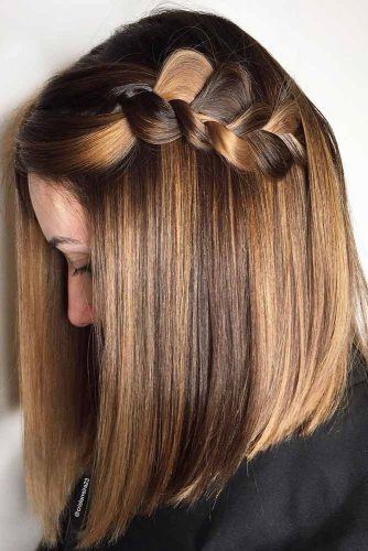 French Braid On Short To Medium Hair picture1