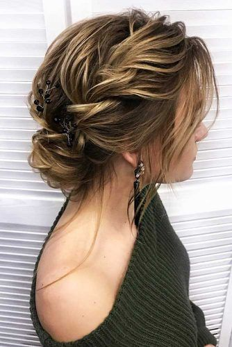 Twisted And Braided Bun Hairstyles For Medium Length #mediumlength #updo #bun