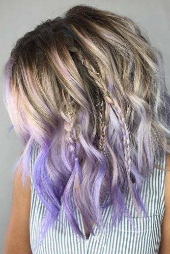 Charming Wavy Hairstyles in Pastel Shades picture 2