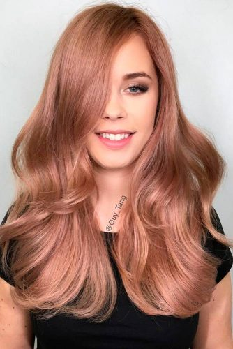 Trendy Rose Gold Hair Color picture 1