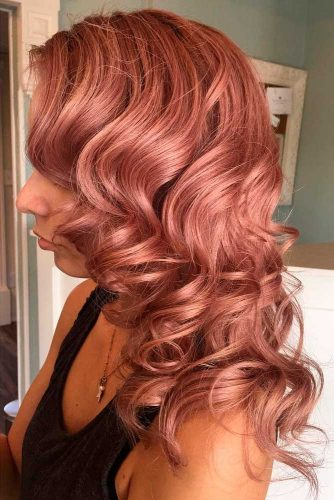 Trendy Rose Gold Hair Color picture 2