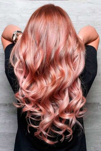 Trendy Rose Gold Hair Color picture 3