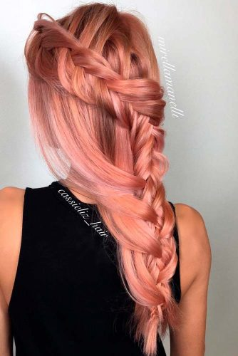 Rose Gold Hair Color Ideas for Long Hair picture3