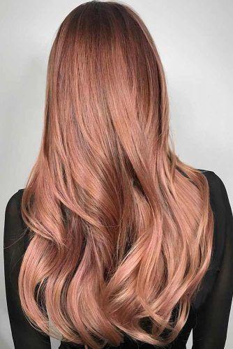 Rose Gold Hair For Brunettes Sleek #rosegoldhair