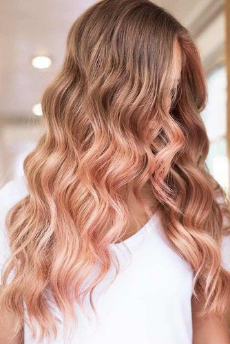 Rose Gold Hair Ombre Waves #rosegoldhair
