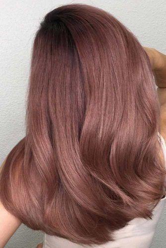 Rose Gold Hair For Brunettes Waves #rosegoldhair