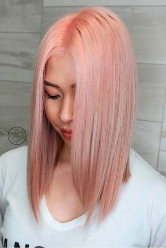 Rose Gold Hair Color Ideas for Long Hair picture1