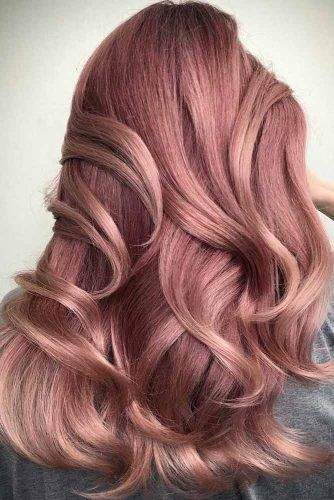 Rose Gold Color For Long Hair Balayage #rosegoldhair