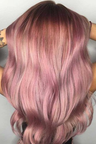 Rose Gold Hair Ombre Long #rosegoldhair