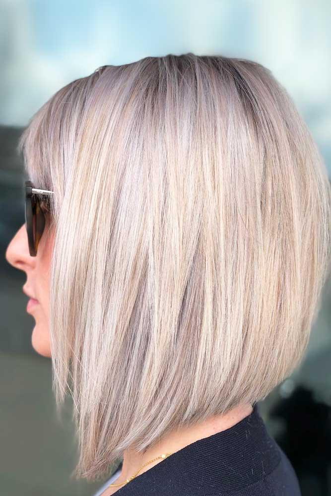 Bob Haircut Ideas For Summer 2018 Blonde Color #bobhaircut #stackedbob #haircuts #mediumhair #straighthair