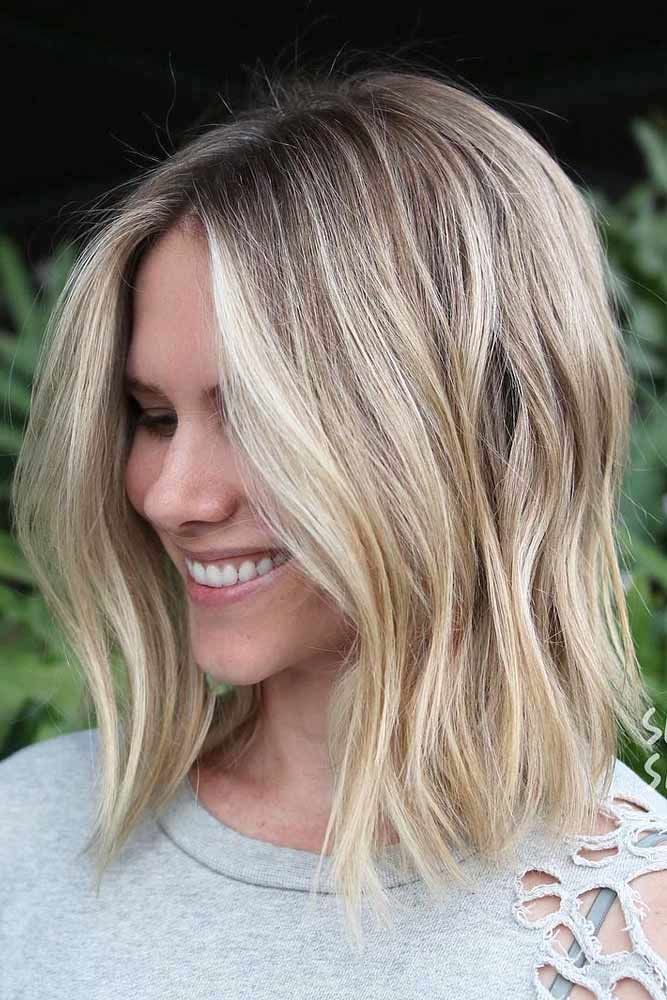 Blonde Long Bob Hairstyles #bobhaircut #haircuts
