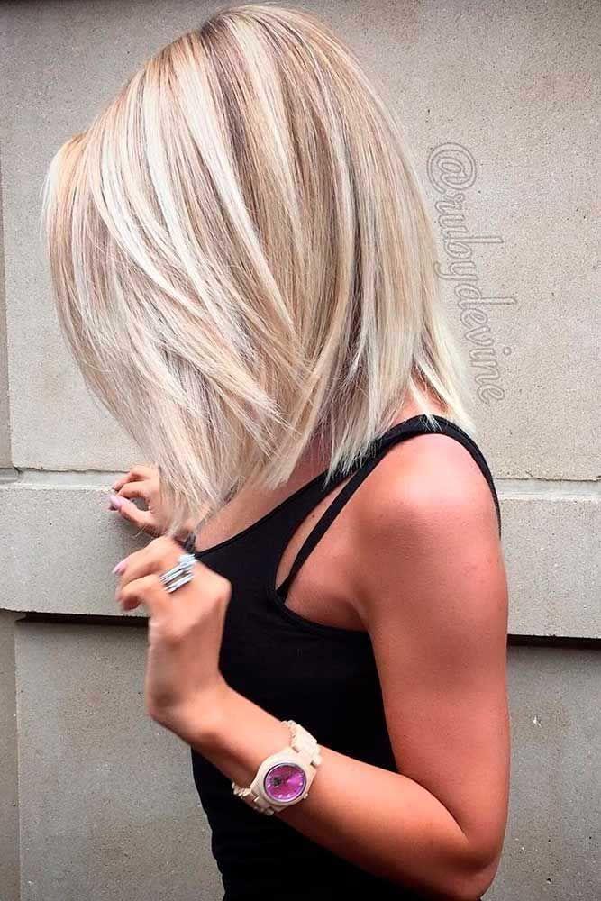 Straight Classy Blonde Haircuts #bobhaircut #haircuts