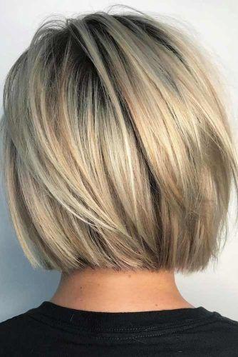 Short And Sassy Blunt Bob Haircut #bobhaircut #haircuts