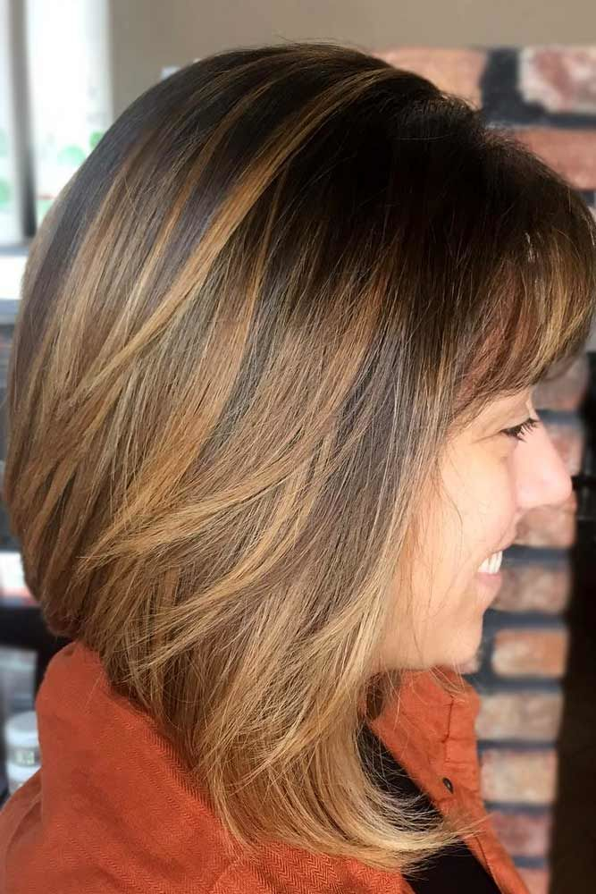 Lob Haircut With Bangs #bobhaircut #haircuts