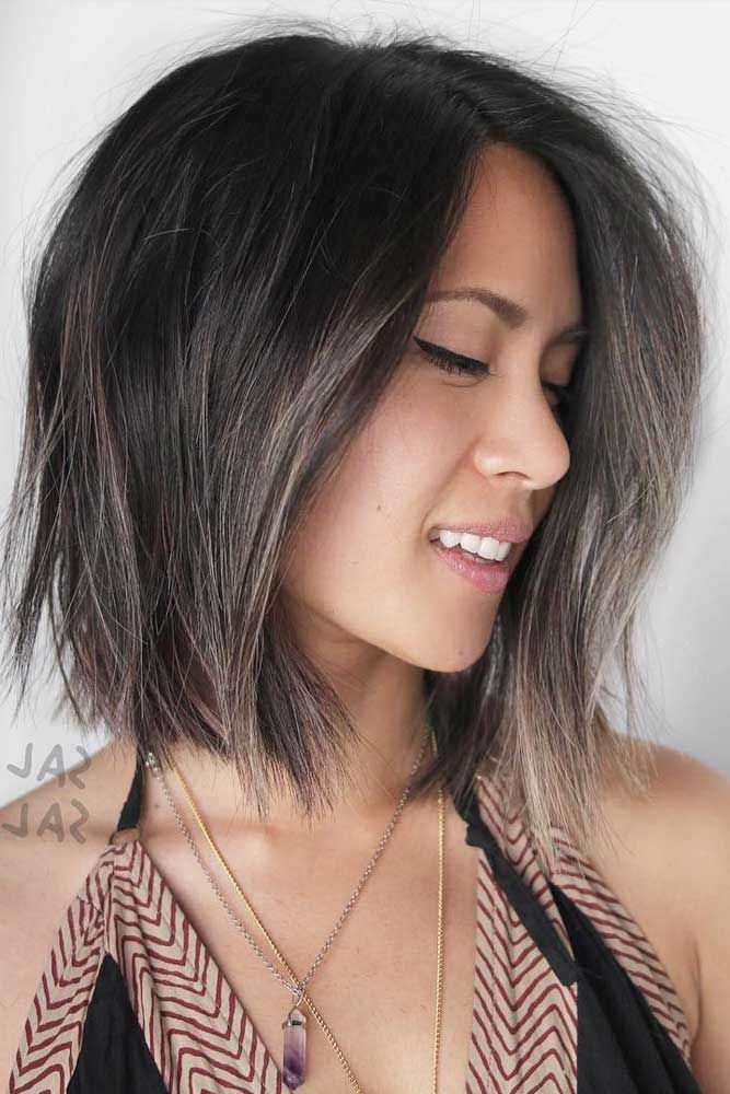 Medium Straight Bob Hairstyles #bobhaircut #haircuts