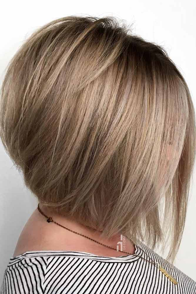 Silky Bob For The Perfect Feminine Look #bobhaircut #stackedbob #haircuts #mediumhair #straighthair