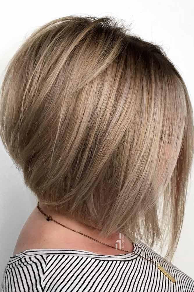 Silky Bob For The Perfect Feminine Look #bobhaircut #stackedbob #haircuts #mediumhair #straighthair