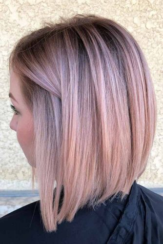Rose Bright Bob Haircuts For Brave Girls #bobhaircut #stackedbob #haircuts #mediumhair #straighthair