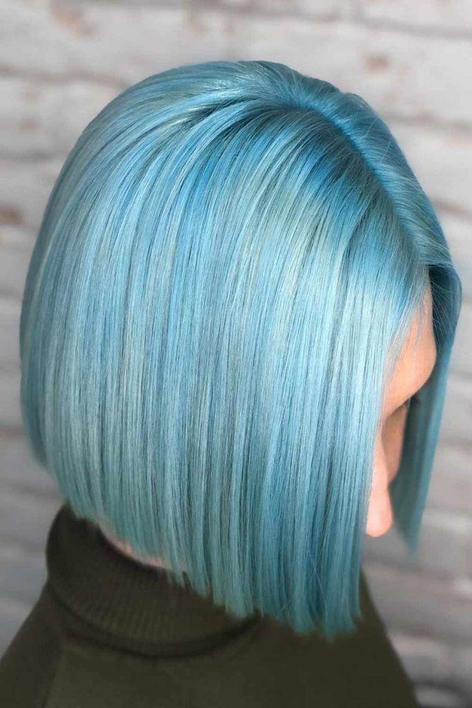 Blunt Bob Haircut Blue #bob #bobhaircuts