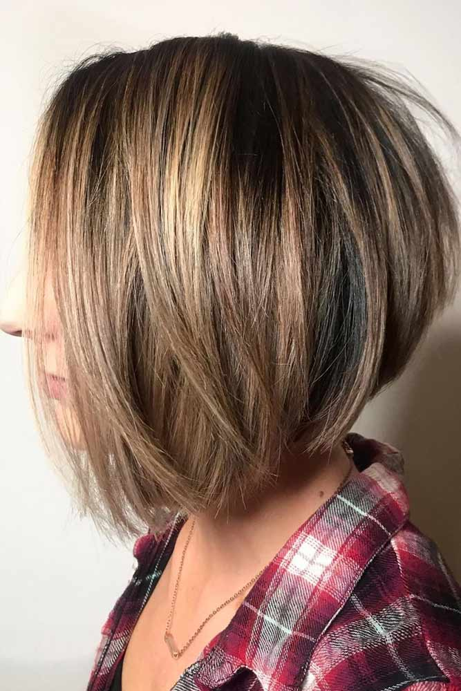 Straight Popular And Stylish Cuts #bobhaircut #stackedbob #haircuts #mediumhair #straighthair