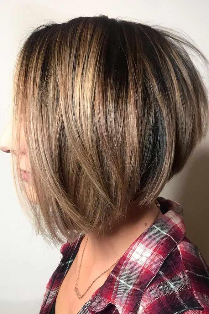 Straight Popular And Stylish Cuts #bobhaircut #stackedbob #haircuts #mediumhair #straighthair
