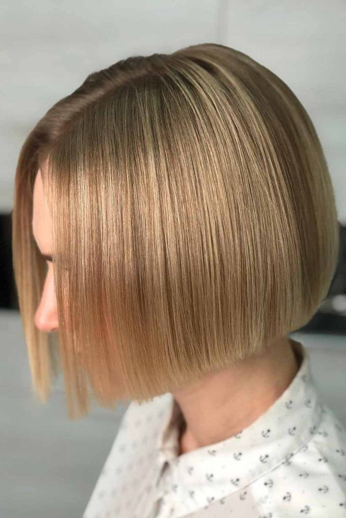 Sleek And Glossy Bob Light #bob #bobhaircuts