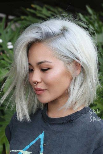 Blonde Medium Bob Hairstyles #bobhaircut #haircuts