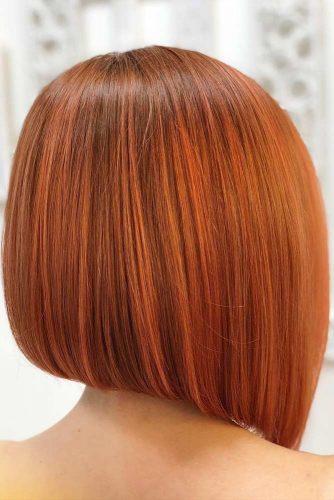Fantastic Bob Haircuts Auburn Color #bobhaircut #stackedbob #haircuts #auburnhair #straighthair