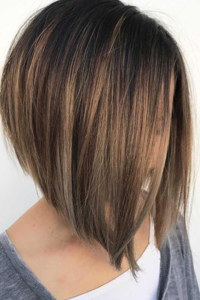 Popular And Stylish Cuts Side Part #bobhaircut #stackedbob #haircuts #mediumhair #straighthair