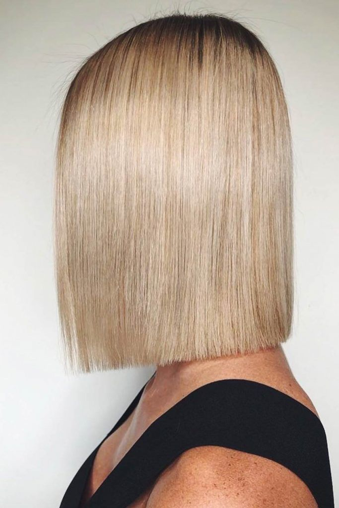 Straight Bob Blonde #bob #bobhaircuts