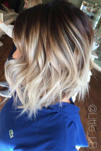 Soft Wavy Stacked Bob Haircut #bobhaircut #haircuts