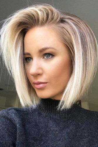 Bleached Medium Bob  #bobhaircuts #haircuts