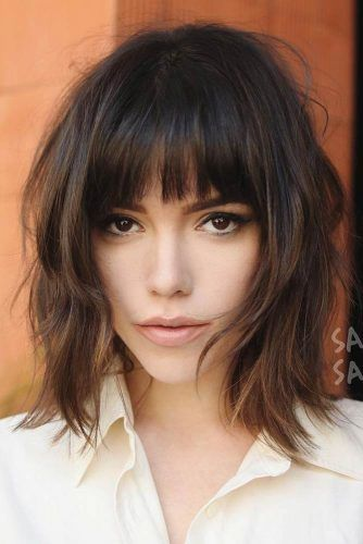 Blunt Bangs  #bobhaircuts #haircuts