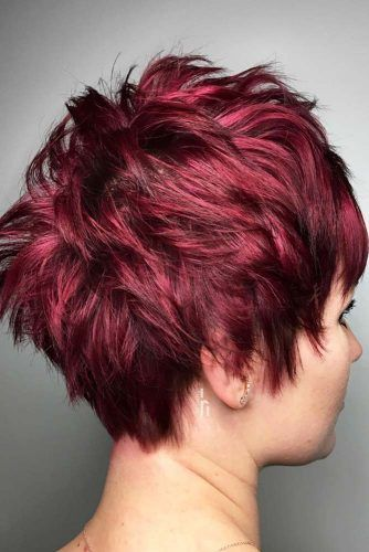 Short Layered Red Pixie #shorthair #redhair #haircolor