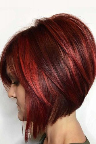Stacked Bob #shorthair #redhair #haircolor