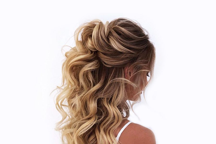 Half Up Half Down Bridesmaid Hairstyles