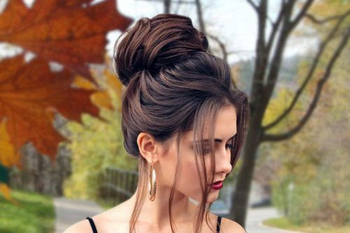 So-Pretty Chignon Bun Hairstyles