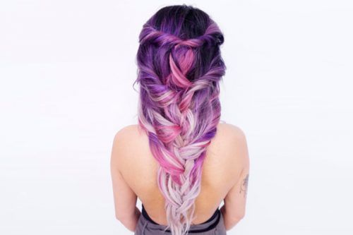 21 Glamorous Violet Hair Color Ideas