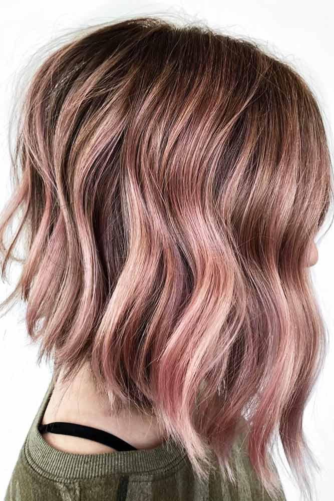 A line Wavy Medium Length Hairstyle #mediumlengthhairstyles #mediumhair #thickhair #longbob