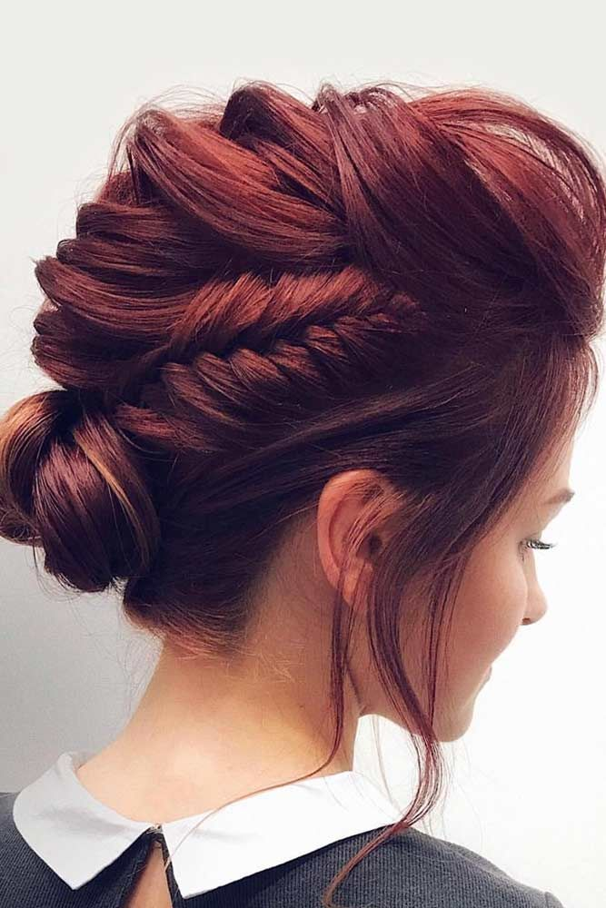 Medium Hair Updos Ideas Braid #mediumhair #mediumhairstyles