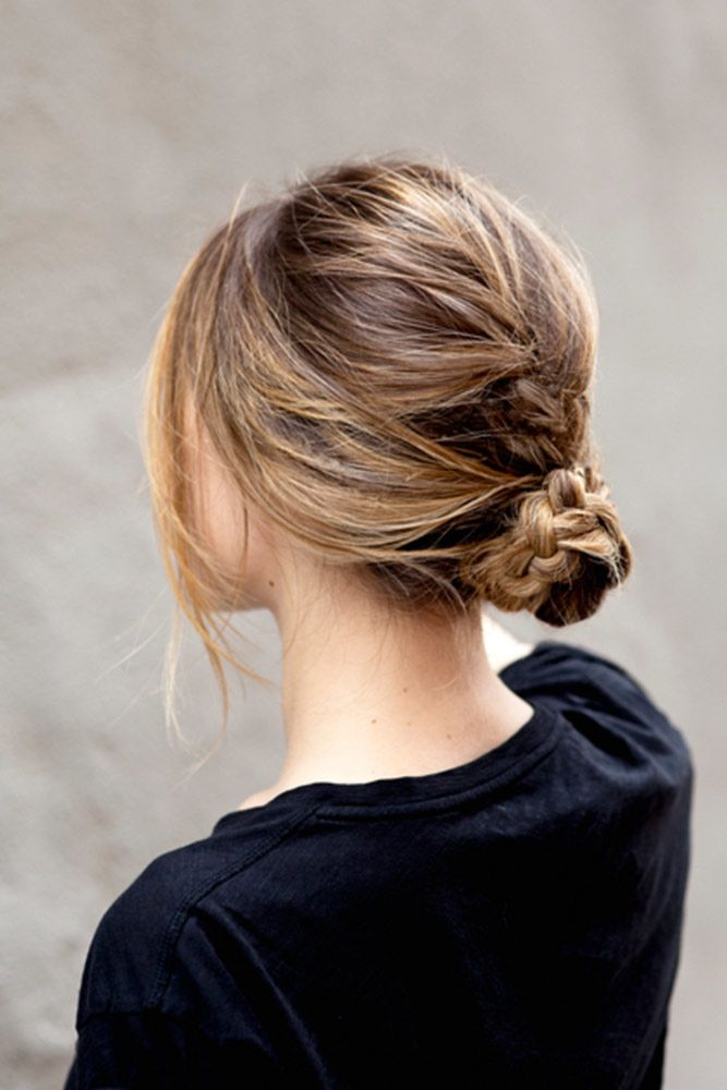 Twisted Buns For Your Medium Hair Braid #mediumhair #mediumhairstyles